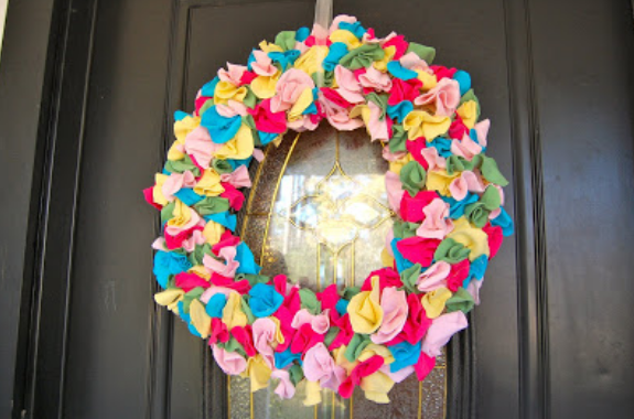 wreath you can make with old shirts