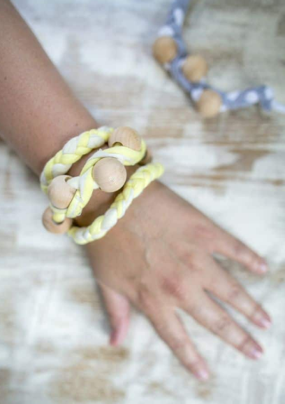bracelet you can make from an old shirt