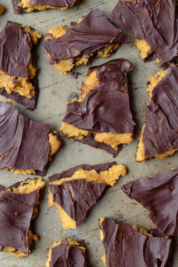 Pumpkin cookie dough barks