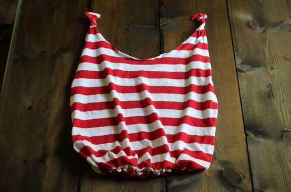 tote bag you can make from an old shirt