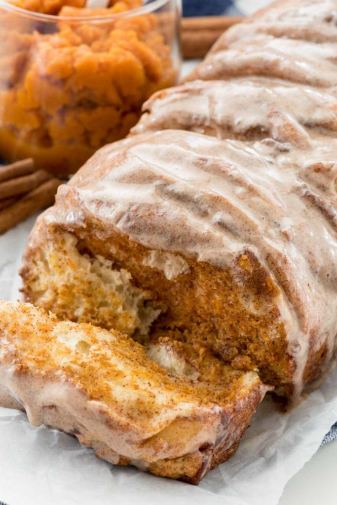 Flaky Pumpkin pull-apart loaf