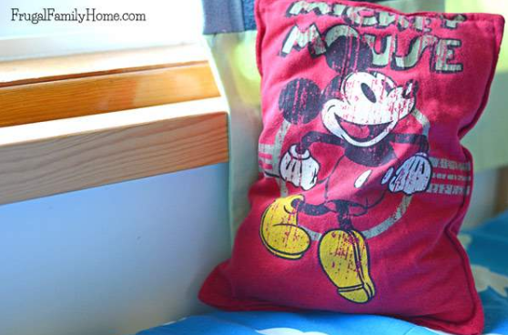 pillow you can make from an old shirt