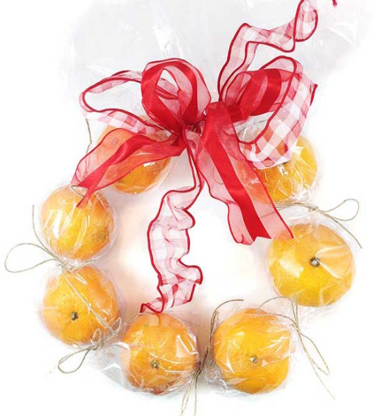 Clementine wreath - makes a great Christmas gift you can make on a budget