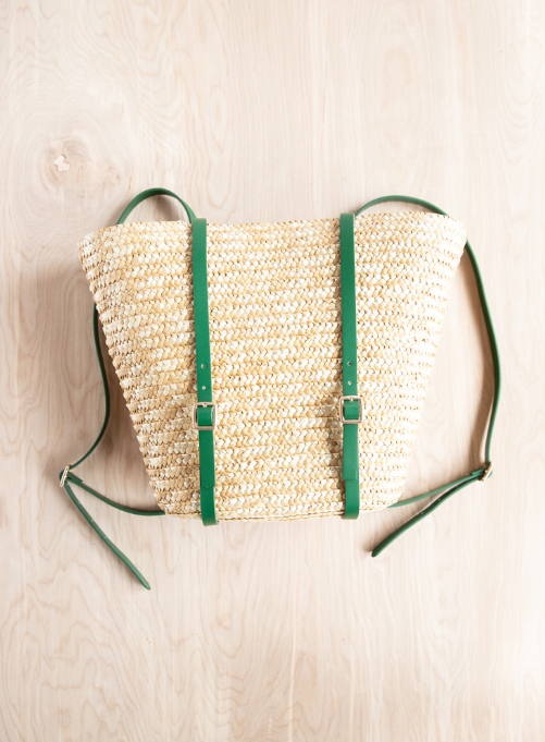Basket backpack - makes a great Christmas gift you can make on a budget