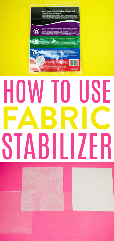 HOW TO USE FABRIC STABILIZER