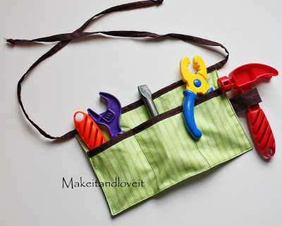 kids' tool belt - makes a great Christmas gift you can make on a budget
