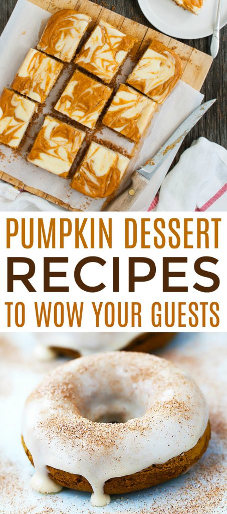 pumpkin dessert recipes to wow your guests