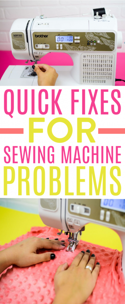 QUICK FIXES FOR SEWING MACHINE PROBLEMS