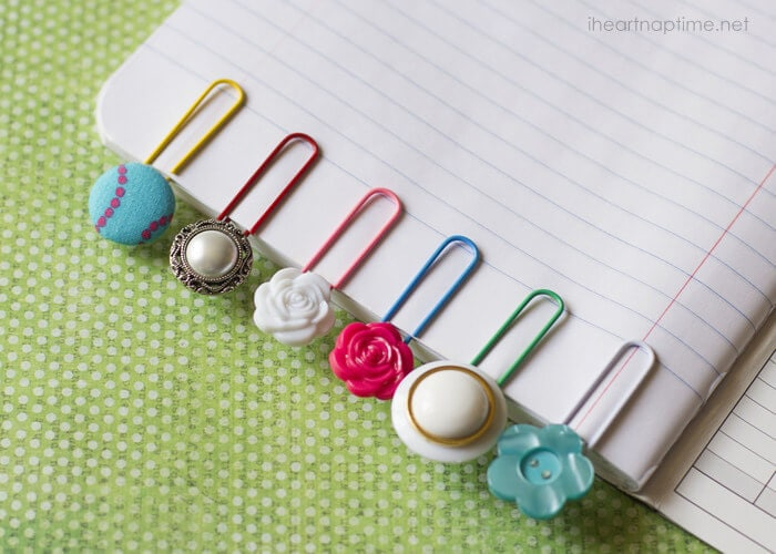 Different designs button bookmarks perfect for stocking stuffer