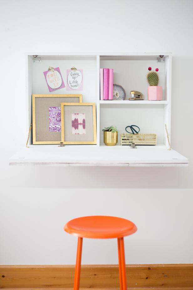 wall mounted fold down desk
