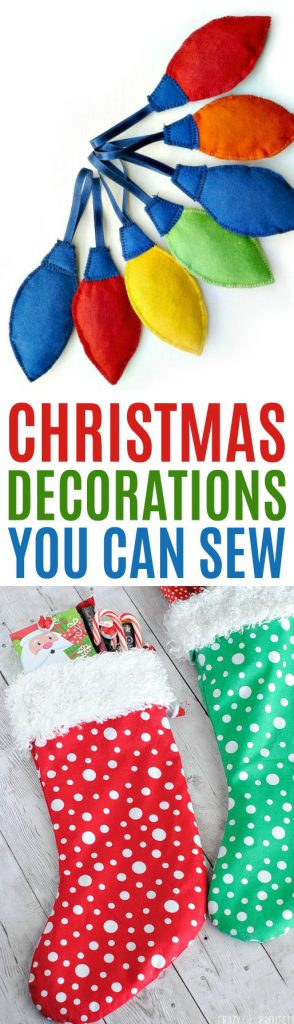Christmas Decorations You Can Sew