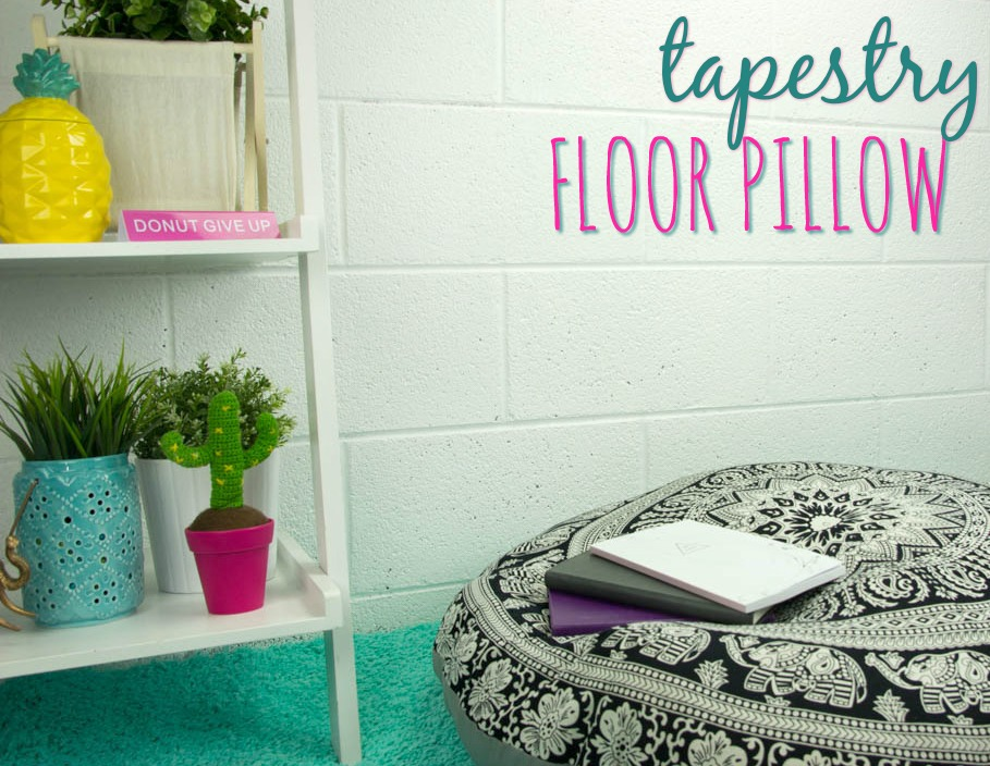 extra seating with tapestry floor pillows