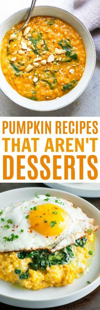Pumpkin Recipes that Aren't Dessert