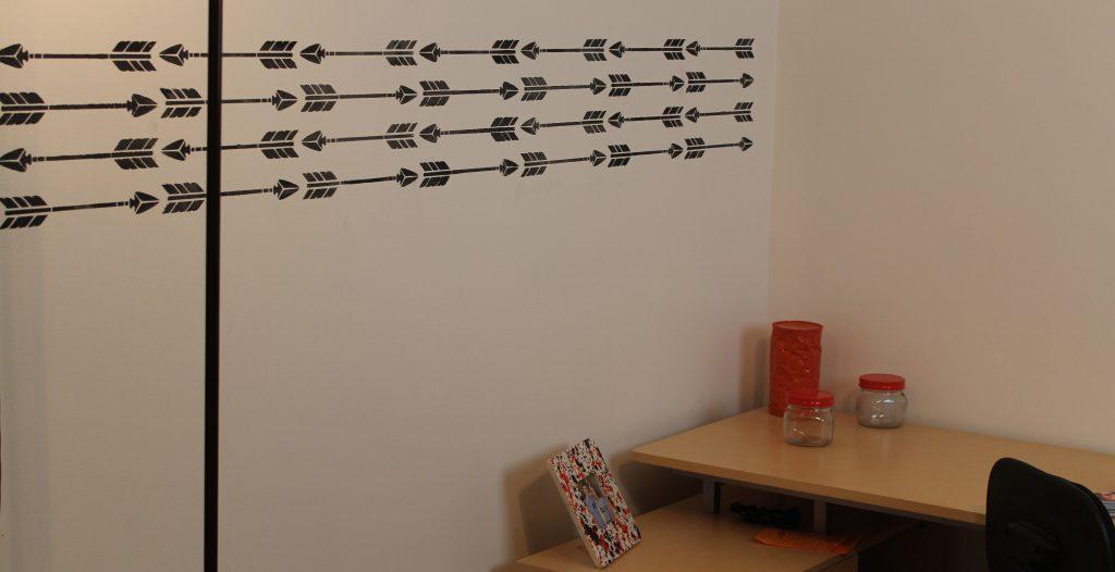 DIY Stenciled Walls add decor