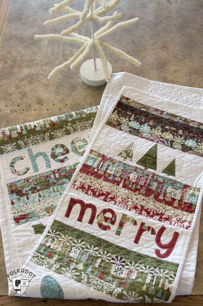 Christmas table runner you can sew