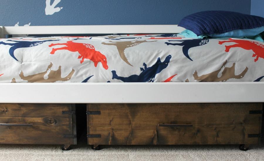 diy under bed storage