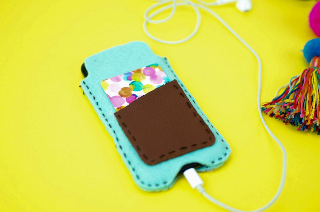 Felt and Leather Phone Sleeve DIY Craft Project