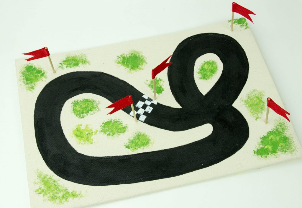 DIY Racetrack Fun Craft for Kids