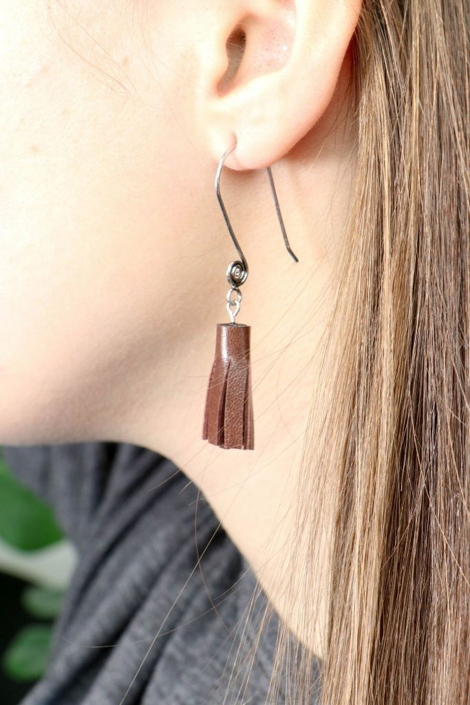 A beautiful tassel earring fun to make and perfect as a stocking stuffer