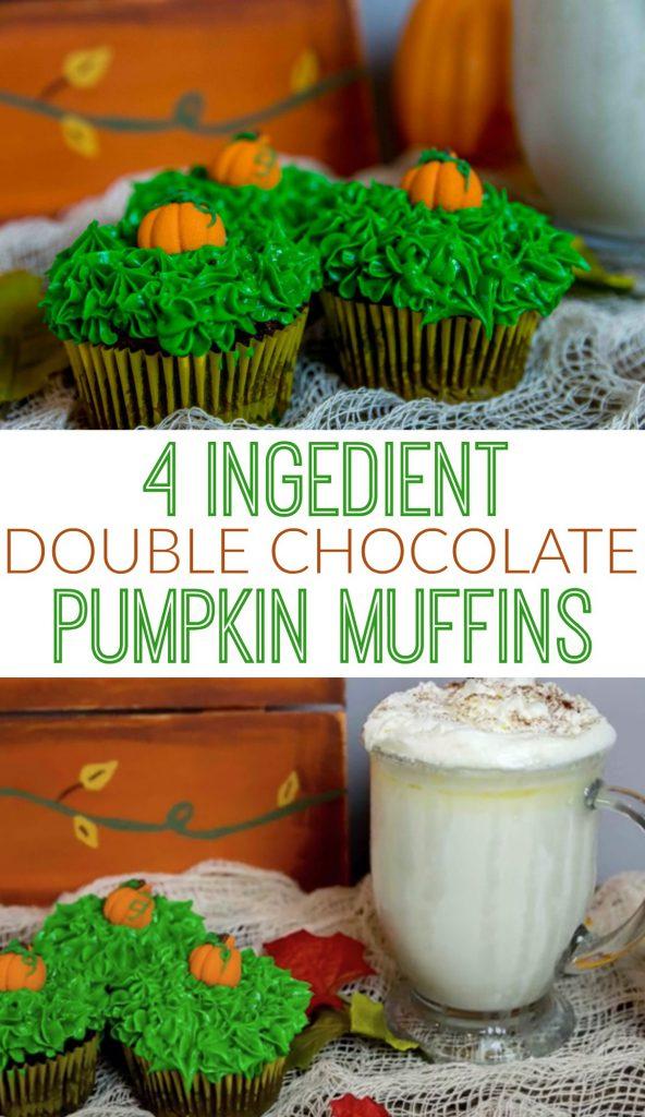 4_ingredient_double_chocolate_pumpkin_muffins
