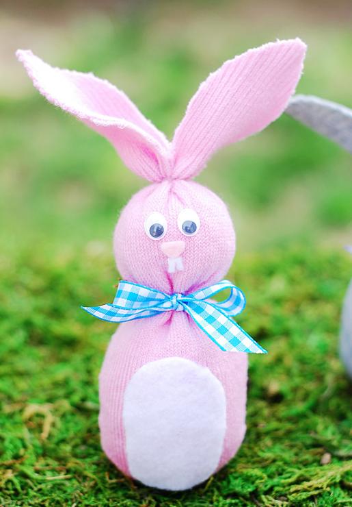 Cute Easter bunny sock