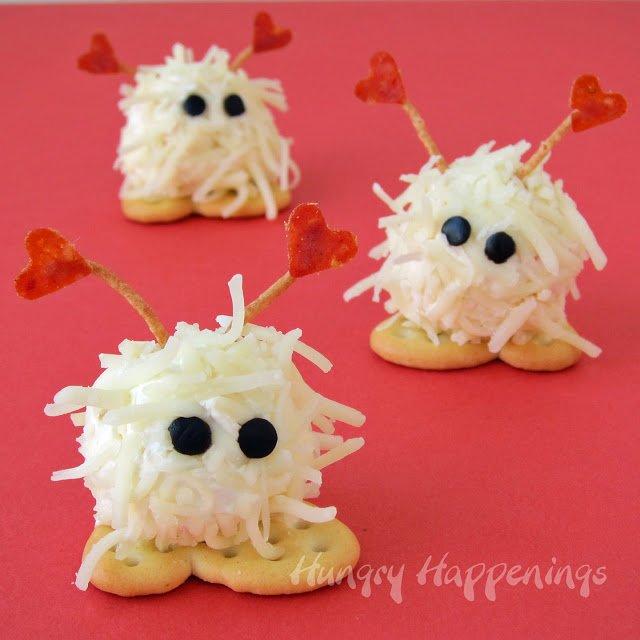 Warm fuzzies mini cheese balls with cracker feet