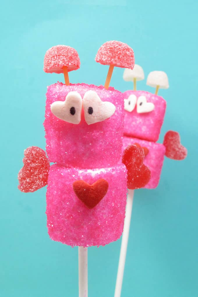 Cute marshmallow love bugs