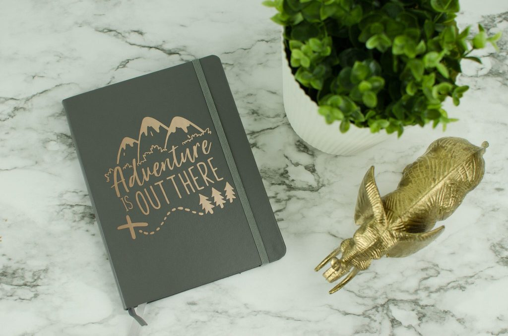 personalize a notebook with vinyl decals