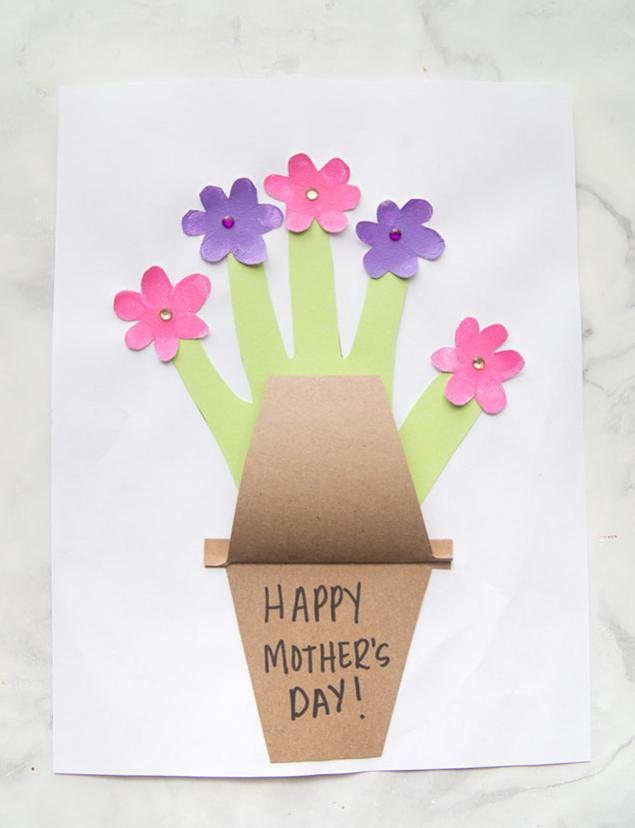 adorable handprint flower pot craft kids will enjoy to make