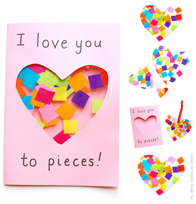 Super cute I love you to pieces Mother's day card
