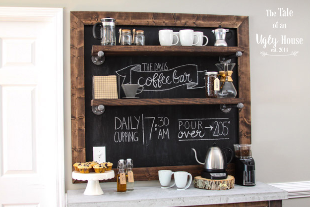 DIY coffee station ideas – a small craft tool for your day