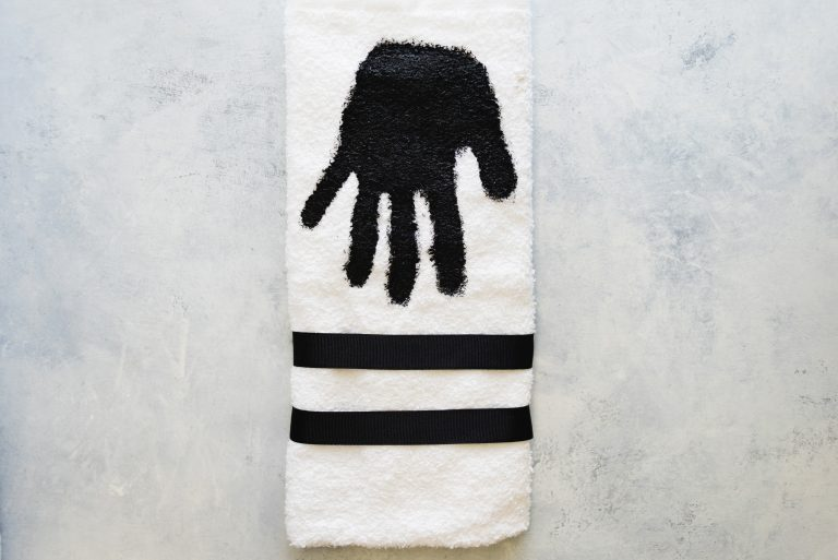 Handprint dish towel
