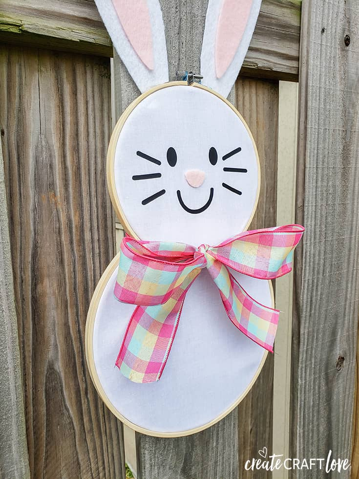 Easter bunny hoop wreath