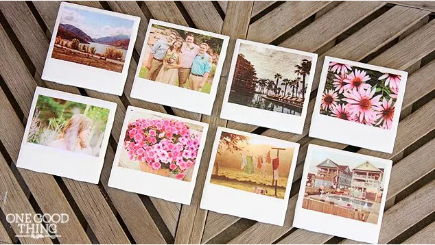 DIY polaroid coasters teens who loves taking pictures will enjoy making