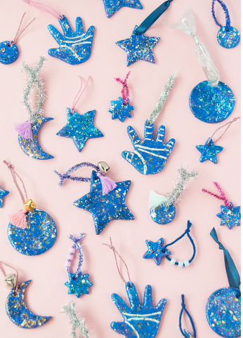 glittery clay good luck charms