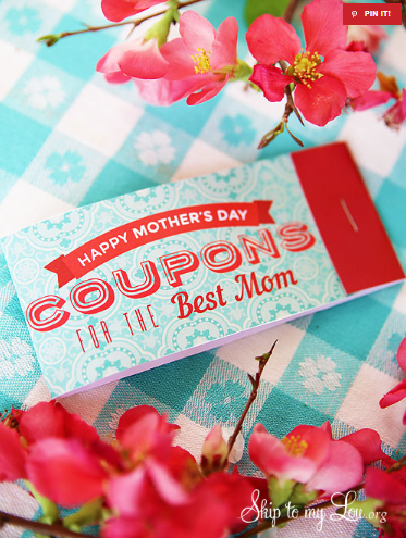 Mothers day coupons beautiful free printable holiday gift