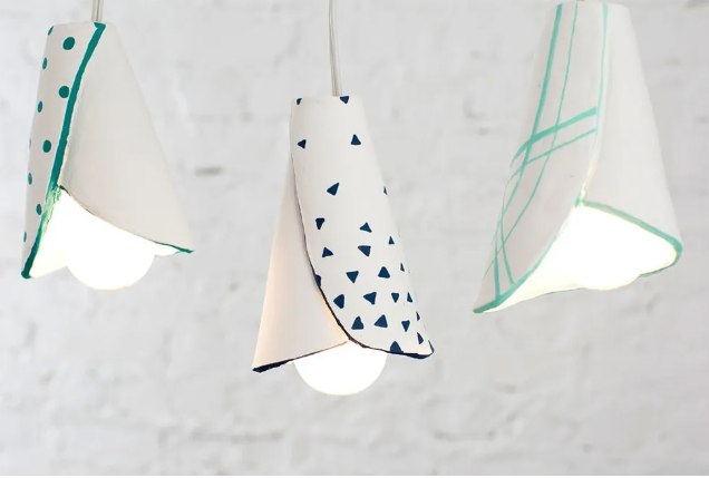 air dry clay pendant lampshades