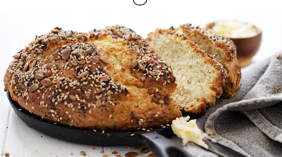 seeded no yeast bread