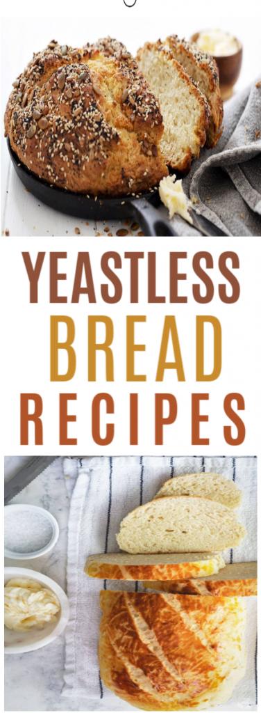 Yeastless Bread Recipes roundup
