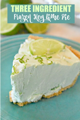 Three ingredient frozen key lime pie summer dessert
