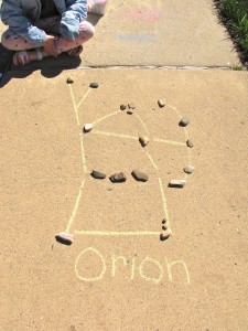 chalk constellation drawing