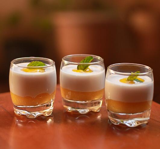 Mango coconut summer dessert shots perfect for summer