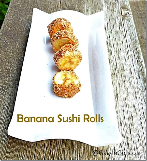 Banana sushi rolls