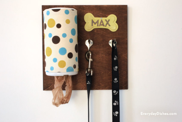 personalized dog leash holder!