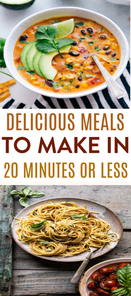 Delicious Meals to Make in 20 Minutes or Less Roundups