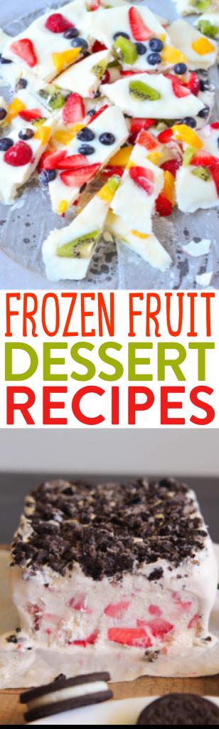 Frozen Fruit Dessert Recipes roundup