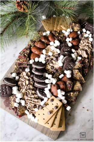 Gluten free dessert charcuterie board for the holiday