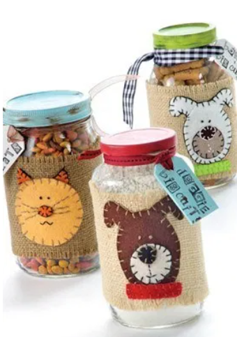 treat jars filled with yummy treats for your pets