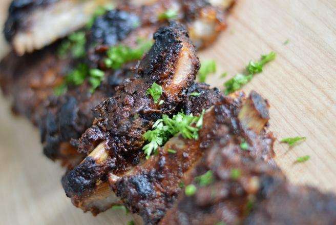 Pork ribs rub with a delicious homemade rib rub