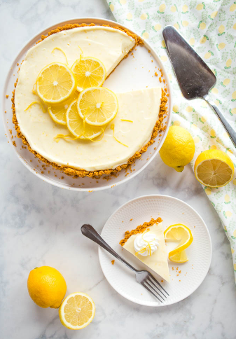 Three ingredient no bake lemon tart a perfect summer dessert